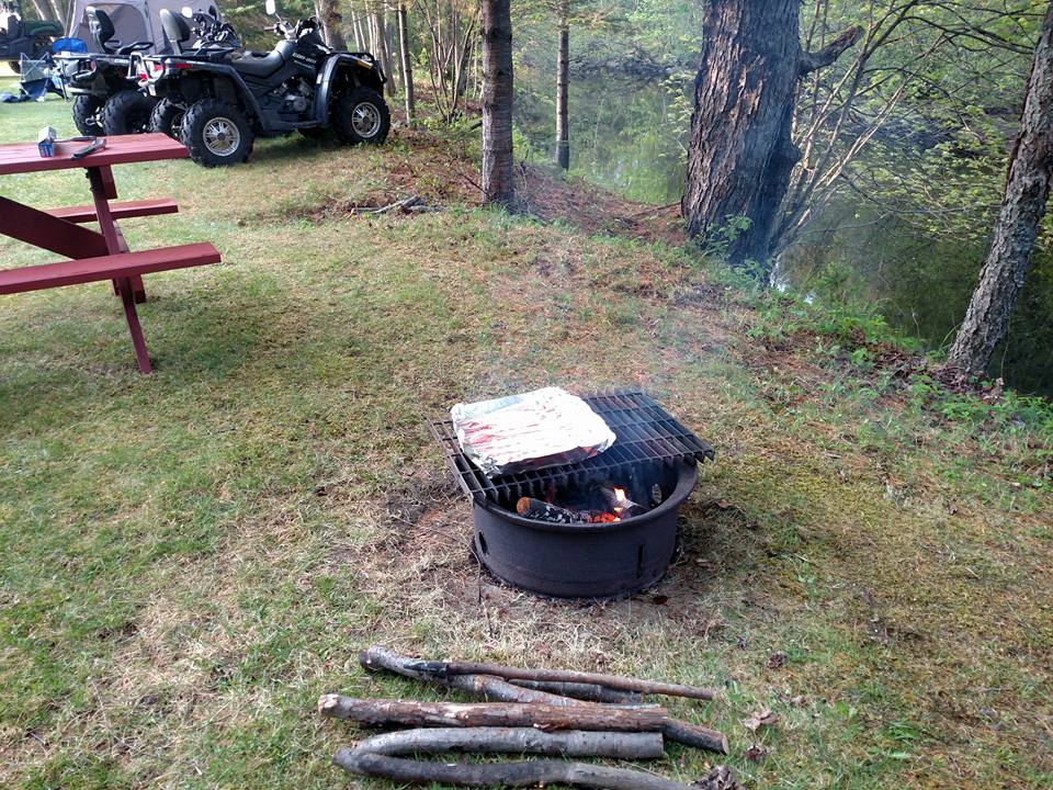 Bacon is ready at Site #16, Thanks to Jason & Becky!